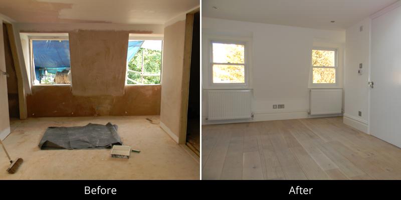 full home refurbishment in shepherds bush london. Black Bedroom Furniture Sets. Home Design Ideas